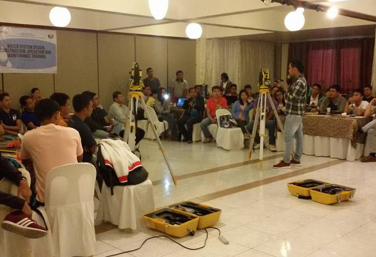 Resources speaking, Training and Introduction to Surveying Instrument @ DSWD Regional office IV-MIMAROPA